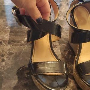 New York & Company Shoes - Sz. 6 Black Wedges